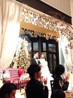 真山景子 結婚式 画像