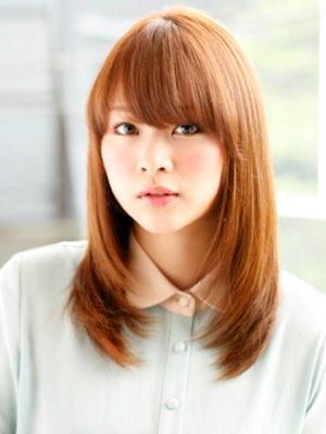 堀北真希風セミロング 髪型画像