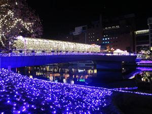 鴎外橋 クリスマス・イルミネーション