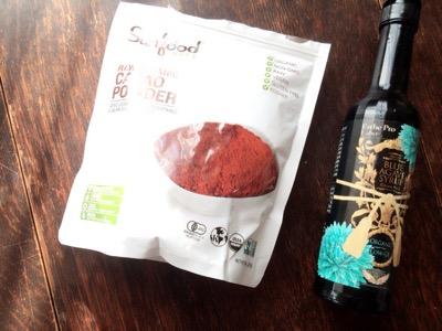 サンフードのココア&ブルーアガベシロップ