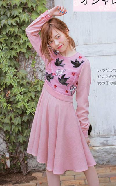 ピンクの服を着た島崎遥香