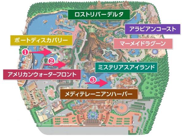 ディズニーシーマップ